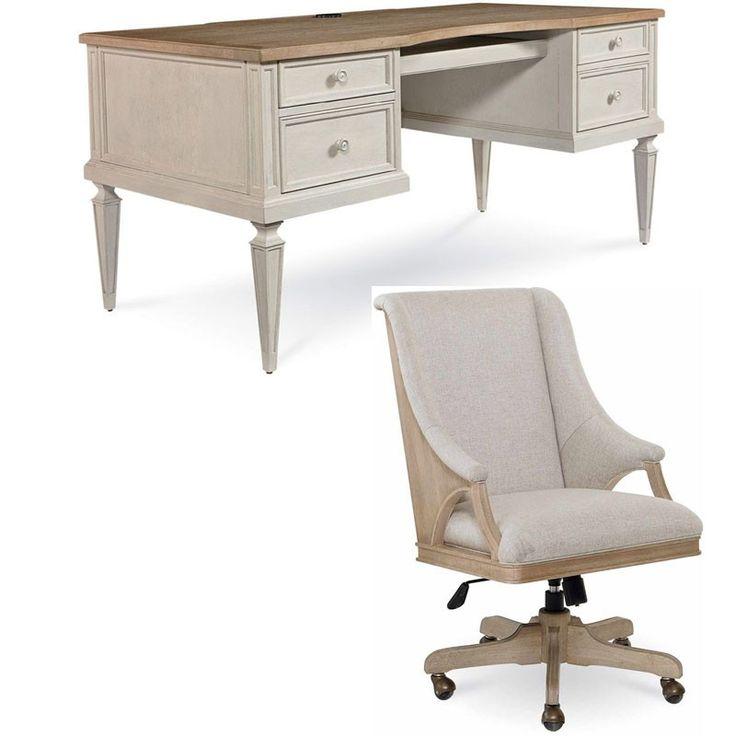 ART Furniture - Roseline 2 Piece Brown Nora Executive Desk Set - 248821-2340-2SET