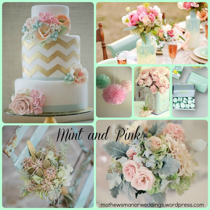 110 best Mint & Pink Wedding images on Pinterest | Color schemes ...