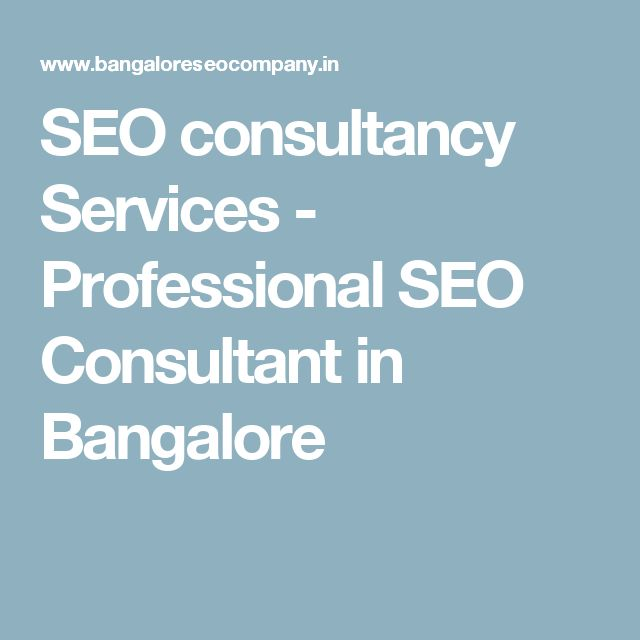 SEO consultancy Services - Professional SEO Consultant in Bangalore