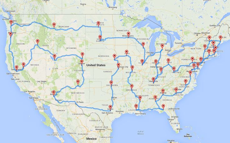 This Man Planned the Most Epic (And Efficient) Road Trip of All Time   Travel + Leisure