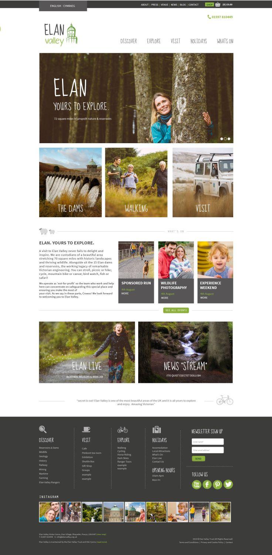 www.elanvalley.org.uk  Re-branded elan valley website #website #webdesign #welshtourism #naturallandscapes #welshwater