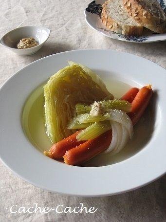 staubで ソーセージとキャベツの白ワイン煮♪ by カシュカシュさん ...