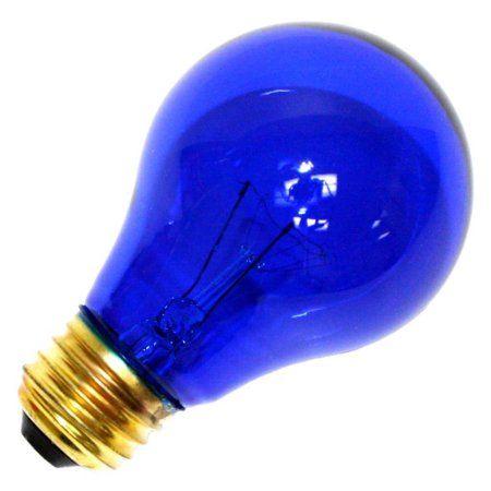 sylvania 25a19tbrp 125v standard transparent colored light bulb blue - Colored Light Bulbs