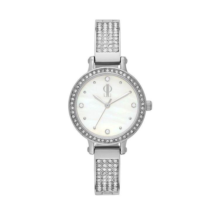 Jennifer Lopez Women's Lara Stainless Steel Half-Bangle Watch, Size: Small, Silver