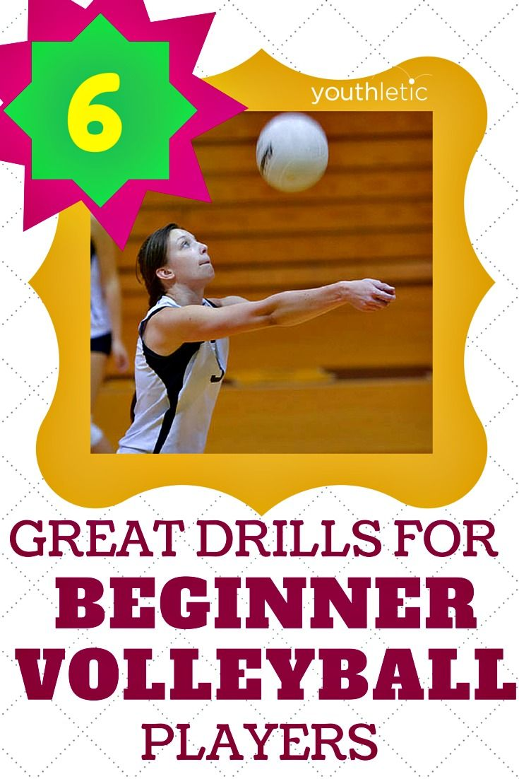 6 easy drills to help beginner volleyball players learnt he basics of the game: https://www.youthletic.com/general/articles/6-easy-parentchild-volleyball-drills?utm_source=pinterest&utm_medium=social&utm_campaign=organic_promotion