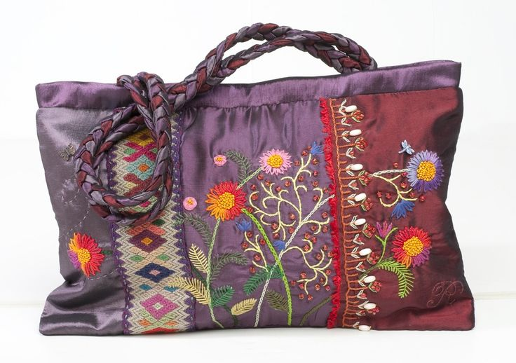 """Spring Bag"" by atelierrococo on Etsy. Hand embroidered."