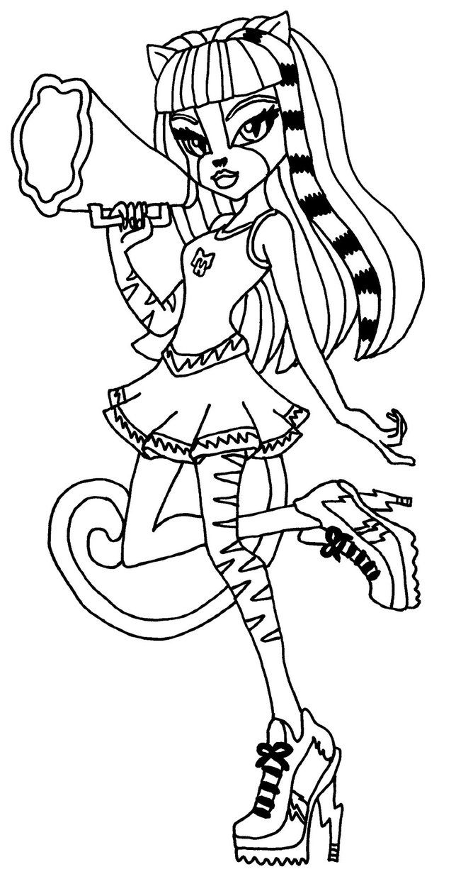 Purrsephone Monster High Coloring Page