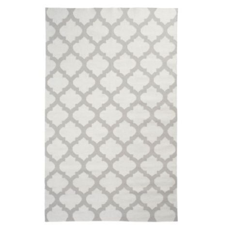 Casablanca Dhurrie Rug - Steel from Z Gallerie #zgallerie. I fell in love with this rug because of the beautiful pattern, and the color combination is very elegant.