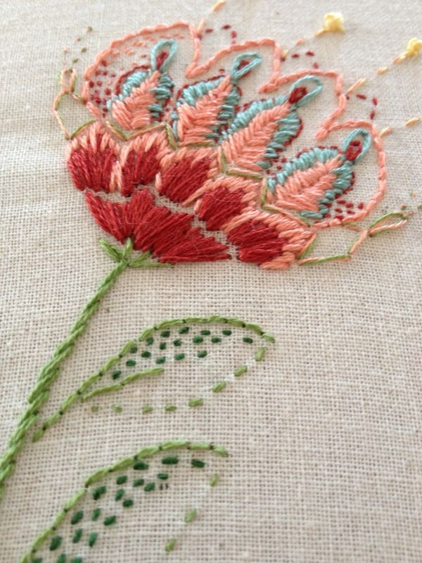 Embroidered flower...could also do a protea