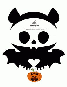 Skelanimals Bat Pumpkin Template