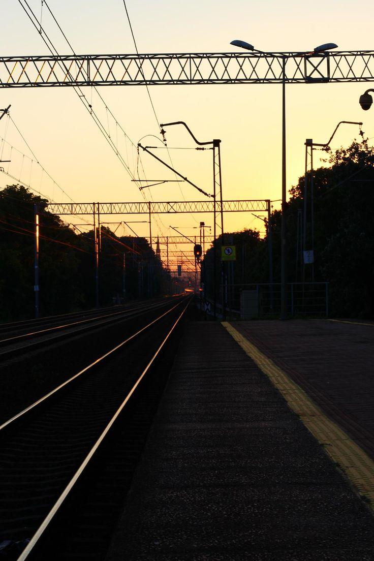 Evening railroad. - Clickasnap