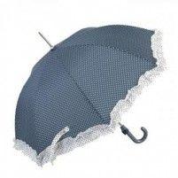 Galzone Stylový deštník s dekorem puntíků a lemováním