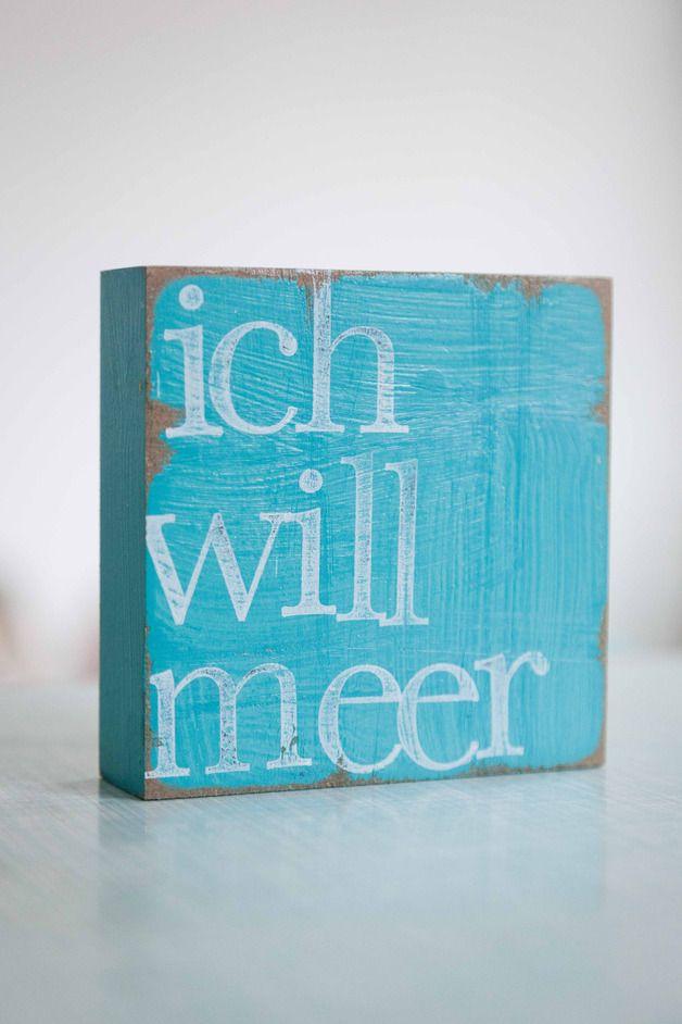 """Wohndekoration – Text Kunst an der Wand """"ich will …"""