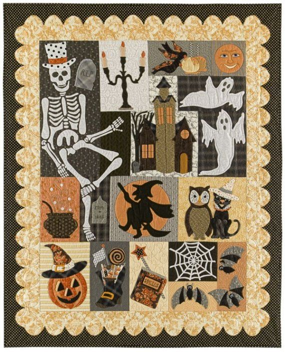 loving the Halloween quilt patterns must do!