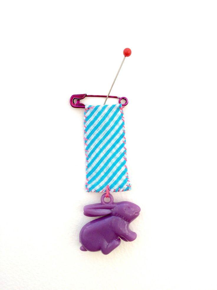HopHop Fandangle ..... Bunny Rabbit Pin by clairepaveley on Etsy https://www.etsy.com/listing/240112511/hophop-fandangle-bunny-rabbit-pin