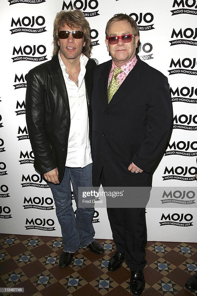 Jon Bon Jovi And Sir Elton John During Mojo Honours List 2006 Jon Bon Jovi Bon Jovi Elton John