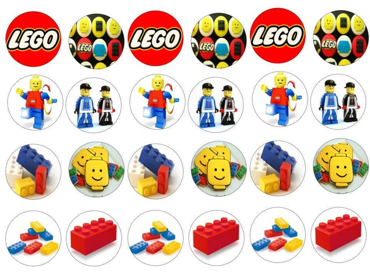 Lego Cake/Cookie Edible Toppers. £3.00, via Etsy.