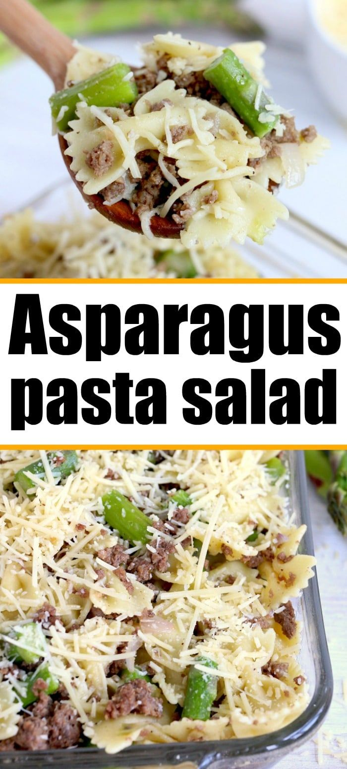 This Parmesan Asparagus Pasta Recipe Is A Great Cold Dish When It S Hot Outside Hearty With Grou In 2020 Asparagus Pasta Recipes Easy Cooking Recipes Asparagus Recipe