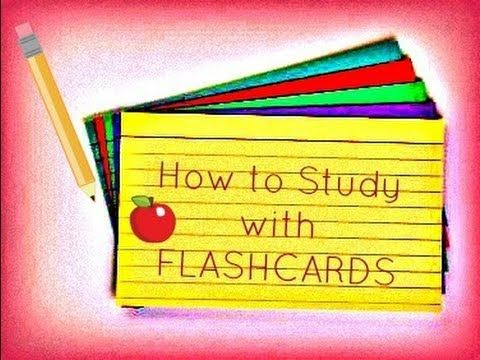 Studying with Flashcards :) - How to Study for Exams and Tests - lx3bellexoxo ♡