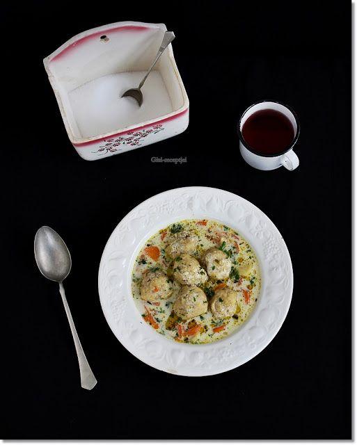 Gizi-receptjei.  Várok mindenkit.: Tárkonyos halgombóc leves.