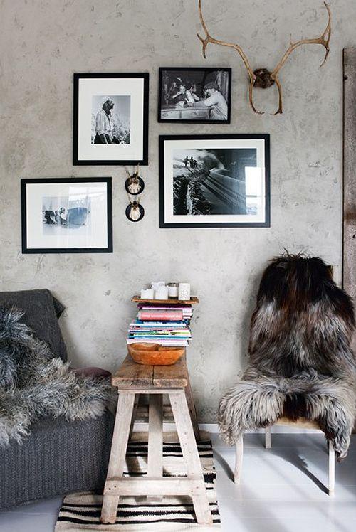: Cabin, Home Interiors, Living Rooms Design, Winter Home, Interiors Design, Fur, House, Design Home, Style File