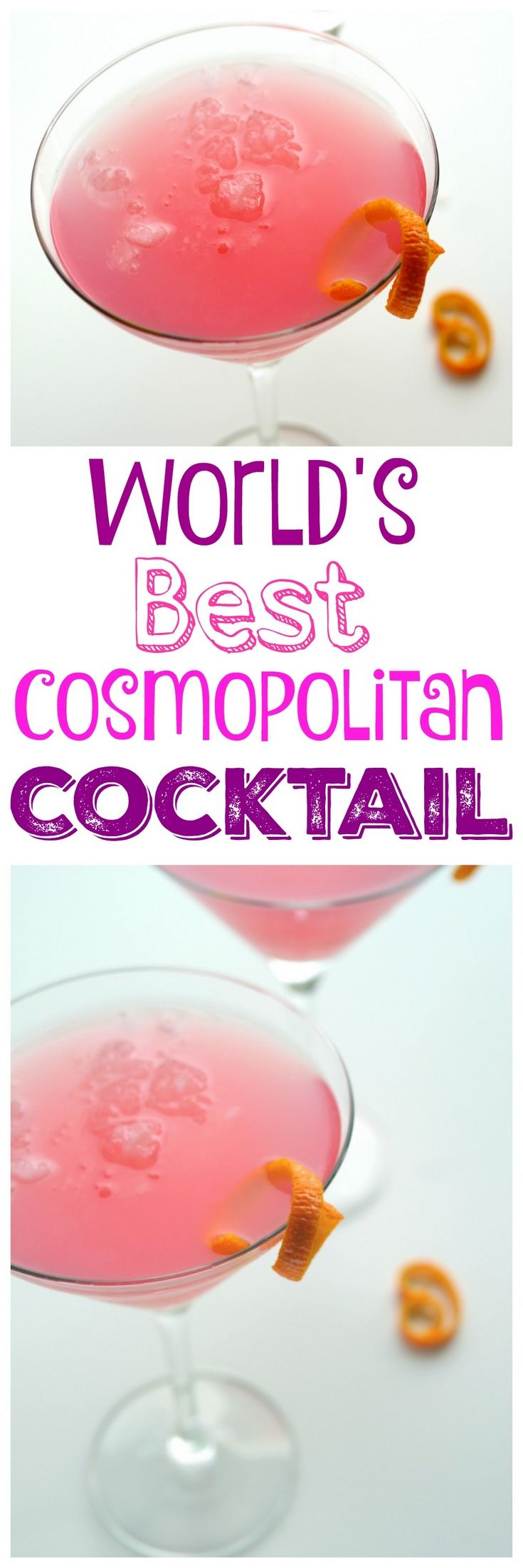 Why would you want to drink anything other than the World's Best Cosmopolitan Cocktail? The only thing girly about this drink is its color, from NoblePig.com.