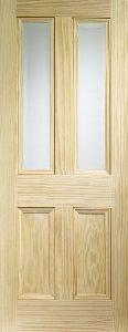 Vertical Grain Pine Glazed Internal Door
