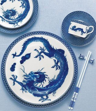 Mottahedeh - Blue Dragon China dinnerware