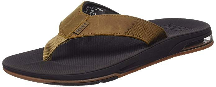 Reef Men S Leather Fanning Low Sandals Review With Images Mens Leather Sandals Leather Men Mens Flip Flops