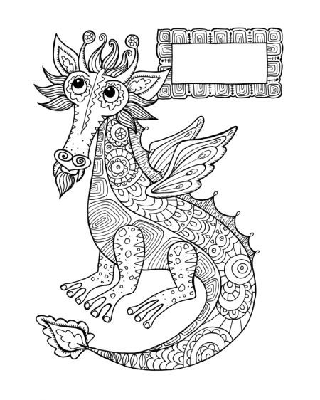 lizard dragons coloring pages - photo#42