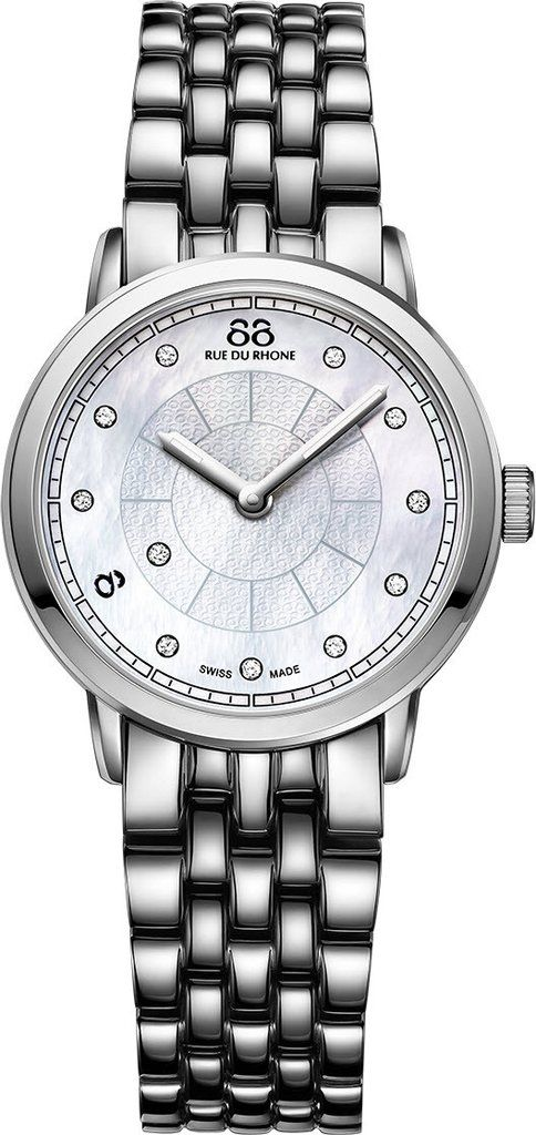@88rdr Watch Double 8 Origin 29mm Ladies #add-content #bezel-fixed #bracelet-strap-steel #brand-88-rue-du-rhone #case-material-steel #case-width-29mm #delivery-timescale-1-2-weeks #dial-colour-white #gender-ladies #limited-code #luxury #movement-quartz-battery #official-stockist-for-88-rue-du-rhone-watches #packaging-88-rue-du-rhone-watch-packaging #style-dress #subcat-double-8-origin-ladies #supplier-model-no-87wa120005 #warranty-88-rue-du-rhone-official-2-year-guarantee #water-res...