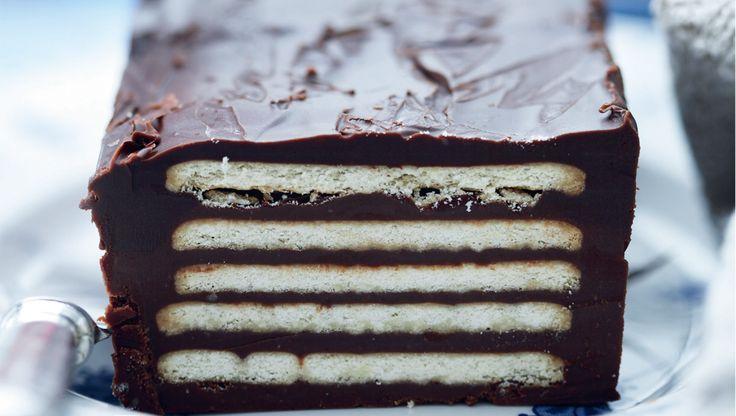 Få opskriften på en gammeldags kiksekage med masser af chokolade. Kiksekage er let og simpel at lave og passer perfekt til enten dessert eller kagebordet