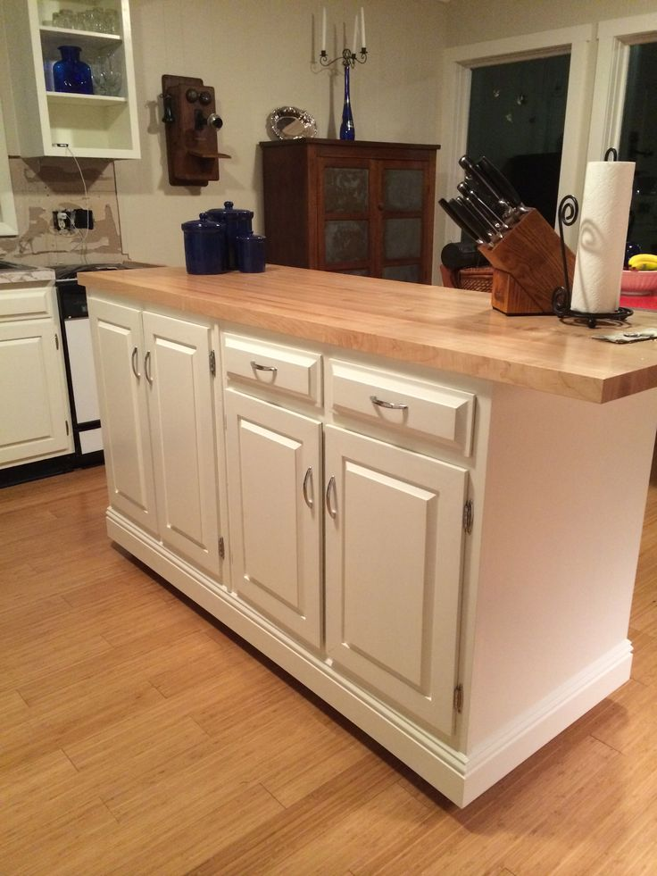 how to add onto an existing kitchen island