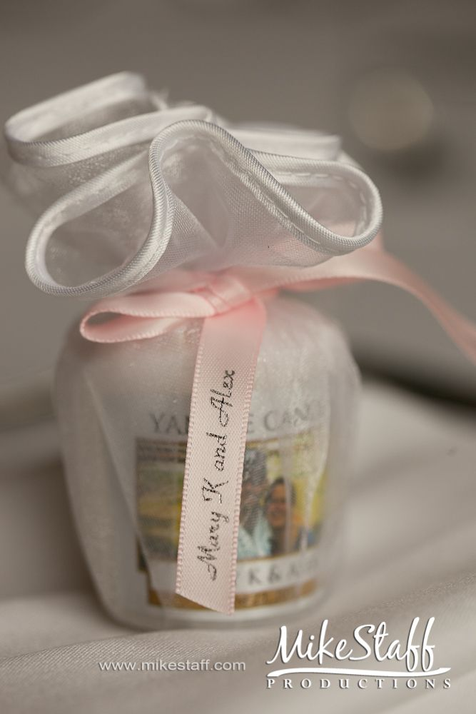 personalized candle guest favors good idea and something I'll use