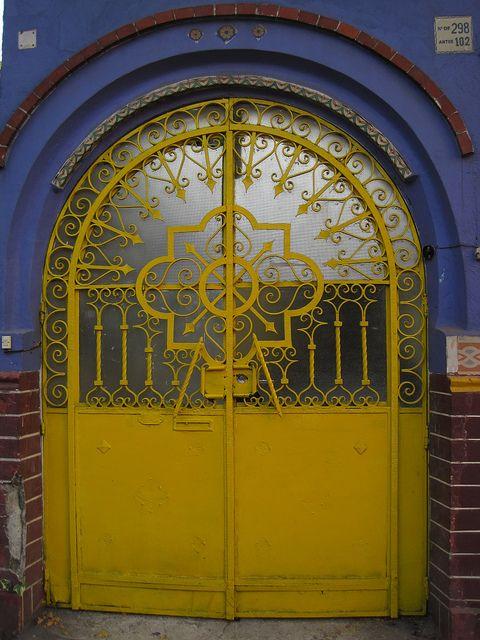 yellow iron doorDoors 000, Coyoacan Doors, Doors Mexico, Front Doors, Artsy Iron, Yellow Iron, Iron Doors, 000 Yellow, Yellow Doors