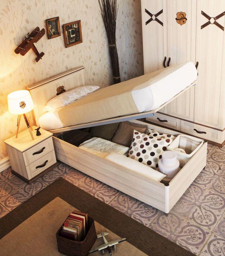 Die besten 25+ Jugendbett mit bettkasten Ideen auf Pinterest - bett regal stauraum ablage