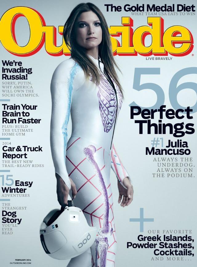 Outside Magazine, February 2014 | Magazine | OutsideOnline.com... Like the article said, she came back with some hardware!