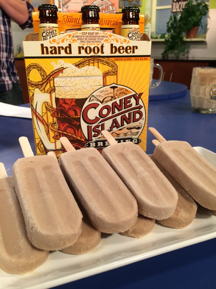 Try this hard root beer float popsicle recipe from Treat Dreams