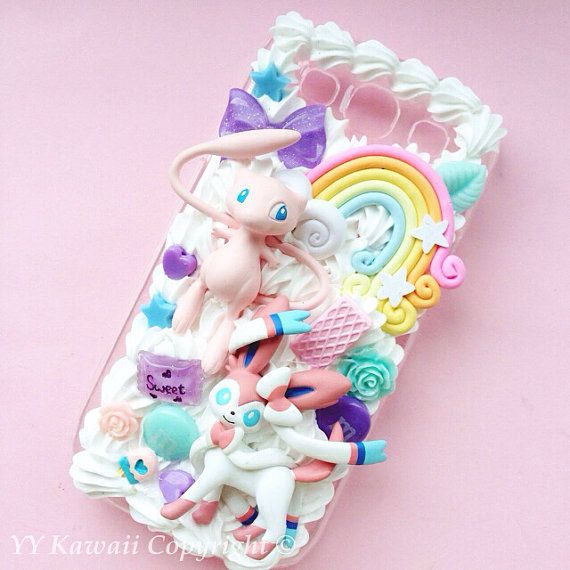 Custom Kawaii Pokemon Mew Decoden Phonecase for Iphone by YYKawaii