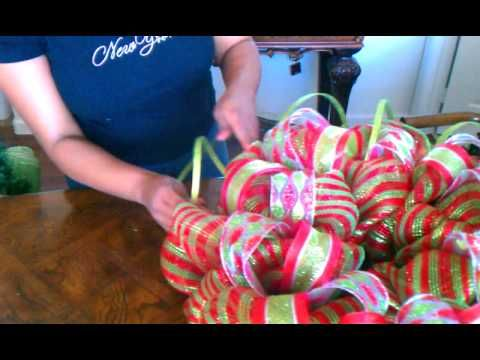 "How To Make A Deco Mesh Wreath ""Part 3"""