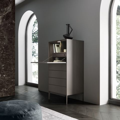 """""""Self Up"""" Secretaire, Brown Edition by Rimadesio"""