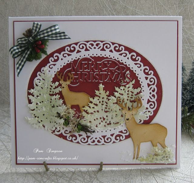 pamscrafts: Reindeer Scene.