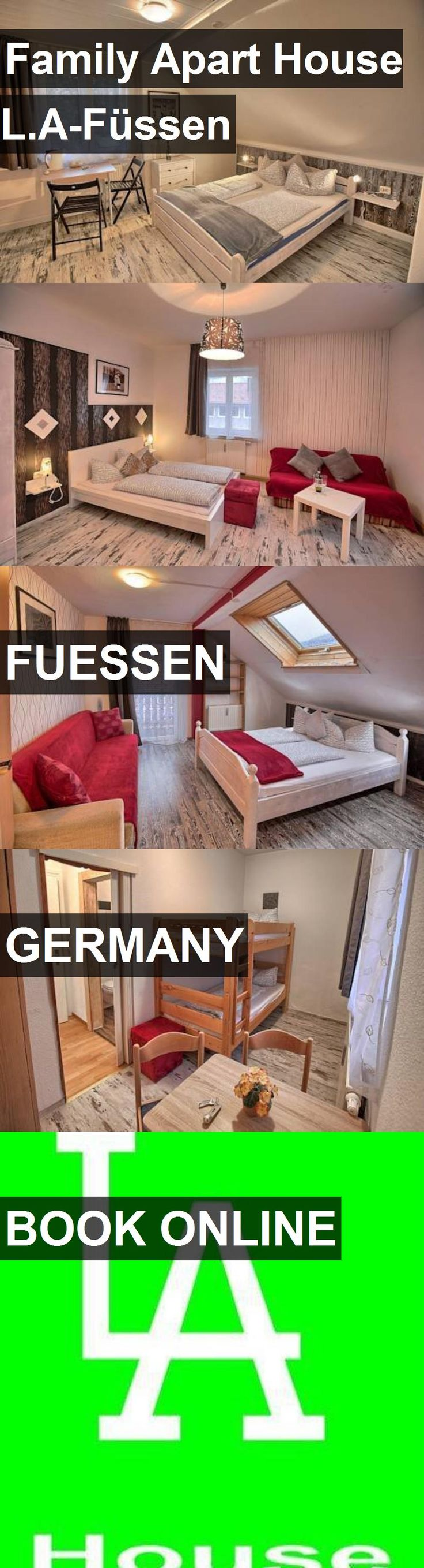 Hotel Family Apart House L.A-Füssen in Fuessen, Germany. For more information, photos, reviews and best prices please follow the link. #Germany #Fuessen #FamilyApartHouseL.A-Füssen #hotel #travel #vacation