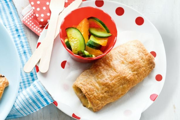 These yummy sausage rolls are designed to be made alongside our sophisticated Moroccan lamb tarts (see related recipe), for a simple 2-in-1 meal idea that will please both the little kids and the big kids.