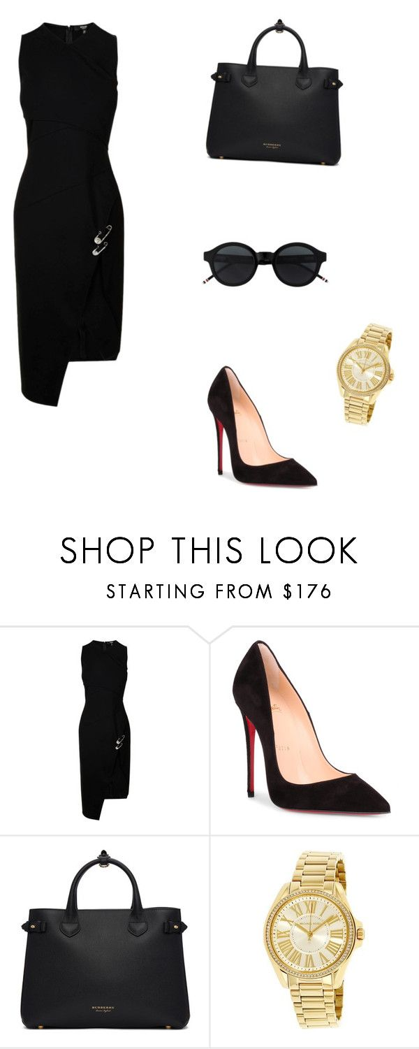 """""""Untitled #213"""" by gabillf ❤ liked on Polyvore featuring Versus, Christian Louboutin, Burberry and Michael Kors"""