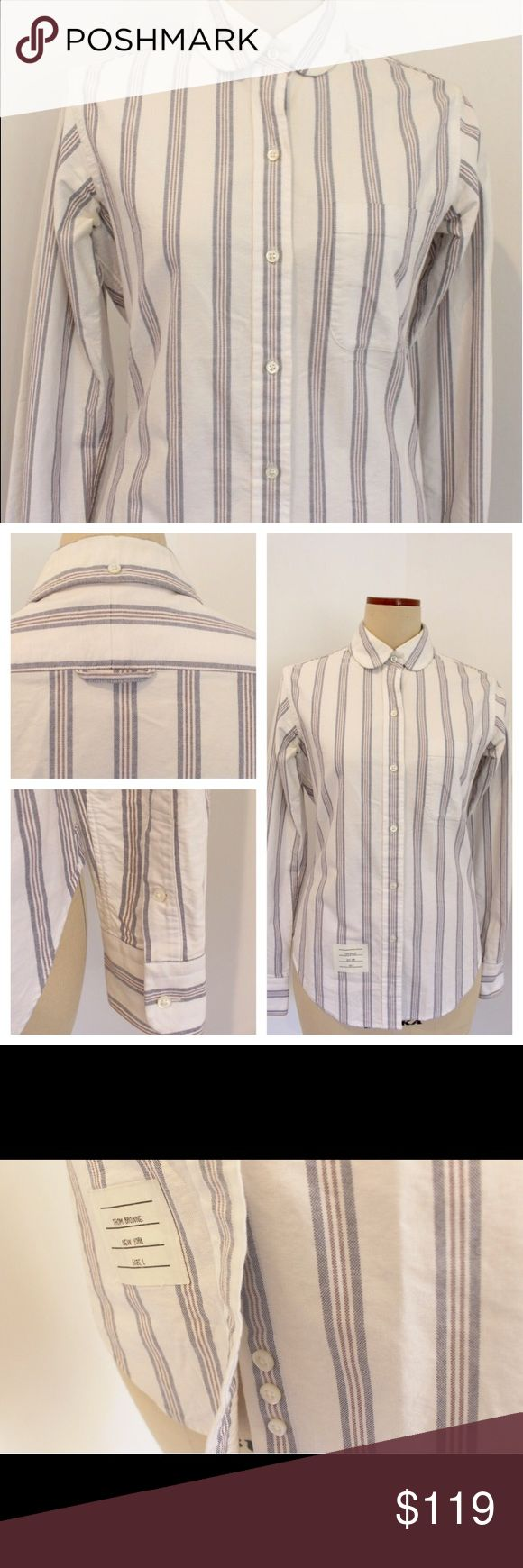 Thom Browne Women's Oxford Shirt Size 1 Thom Browne Women's Oxford shirt Size 1 (women's size between XS and S) worn only once in excellent condition. Just dry cleaned! Thom Browne Tops Button Down Shirts