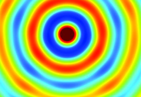 """Lente piatta in cui i bit materiali variano punto per punto imitando un materiale """"variabile"""" (fonte: Cristian Della Giovampaola et al., Nature Materials) (foto: Ansa)"""