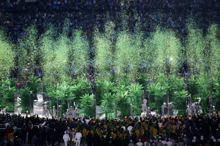 Confetti at opening ceremony