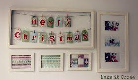 Make it Cozee: Framed Christmas Banner