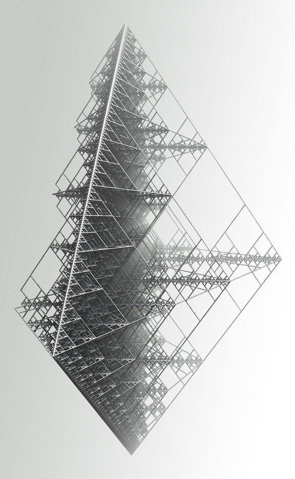 geometric steel diamond
